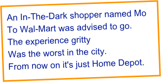 An In-The-Dark shopper named Mo
