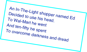 An In-The-Light shopper named Ed
